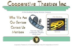 Cooperative Theatres - Film Booking & Buying Services